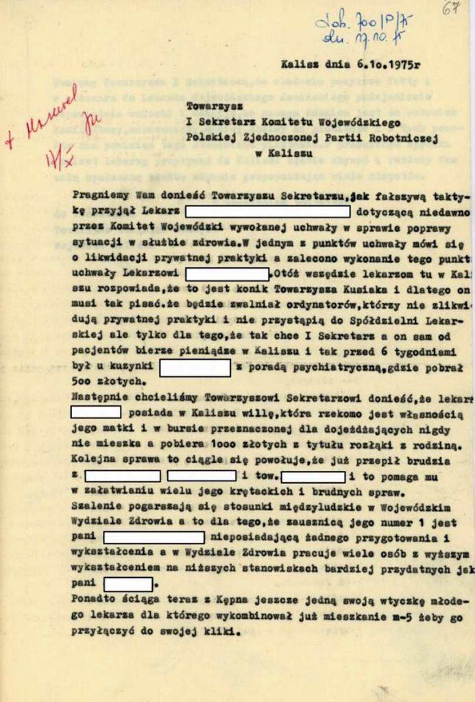 donosy skargi wystata archiwum państwowe kalisz