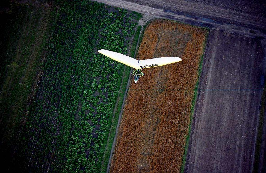 motolotnia z lotu ptaka