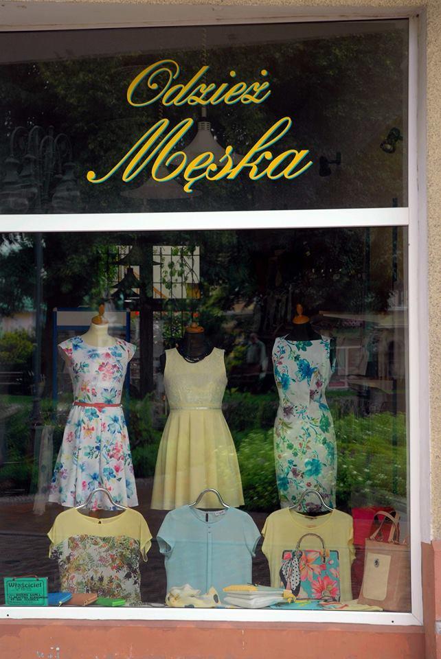 odzież męska tuchola moda sklep reklama