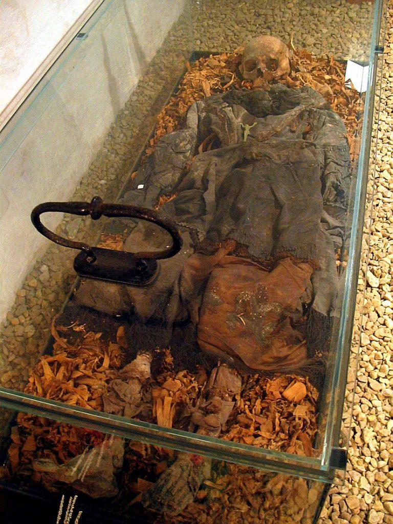 zakonnicy pochowani w krypcie