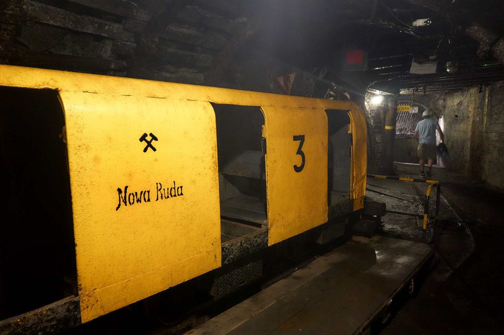Podziemna trasa turystyczna w kopalni węgla kamiennego