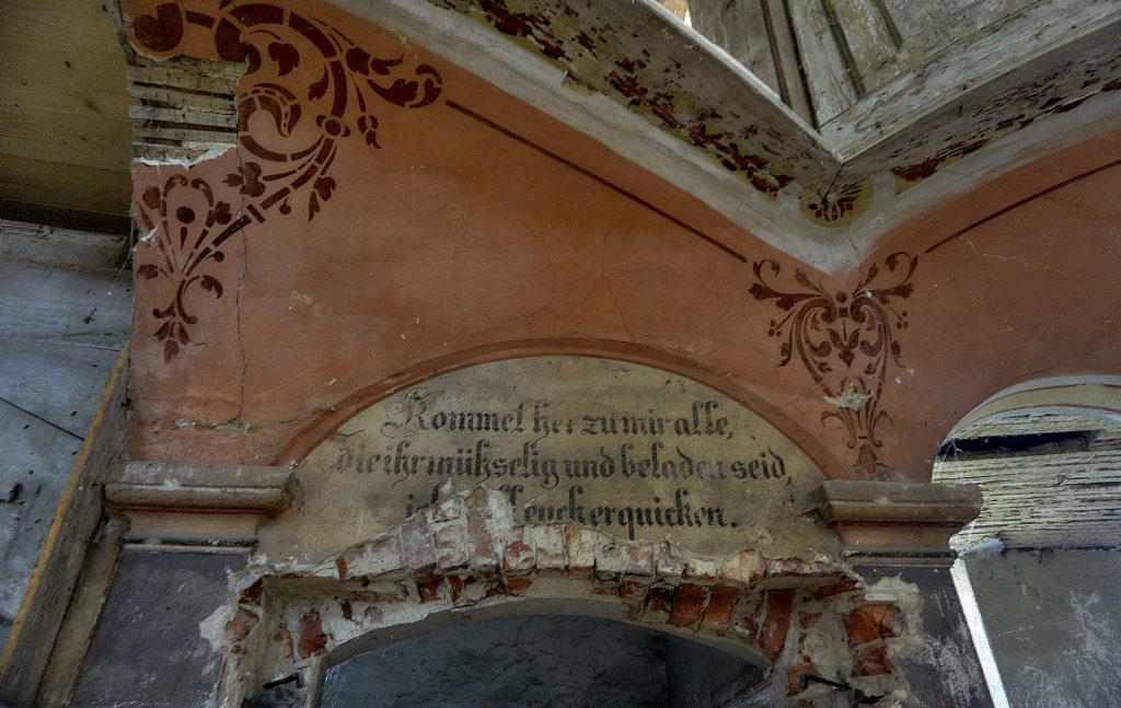 zabytkowy kościół ewangelicki w Żelichowie